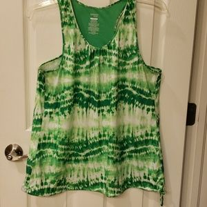Green/White Athletic Top
